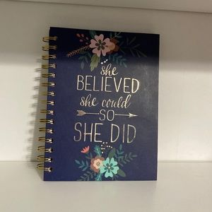 """""""she believed she could, so she did"""" notebook"""